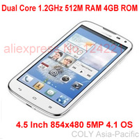 IN STOCK Huawei G510 Qualcomm  Dual Core 1.2GHz 512M RAM 4GB ROM 4.5 Inch 854x480 5MP 4.1 OS  Smart Phone