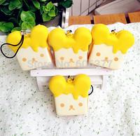 Free Shipping!!!NEW Cute Cartoon SAN-X Rilakkua Honey Toast  Squishy Charm/Key Chain /Wholesales