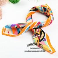 53x53cm chinese silk scarf  designer plaid scarf h / women zebra scarf free shipping