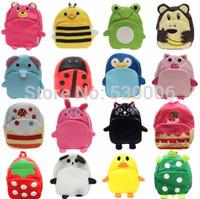 Wholesales 16 Designs Pu Leather Cute Cartoon Animals Children School bags, Kindergarten Boys&Girls Backpack Kids Shoulder Bags