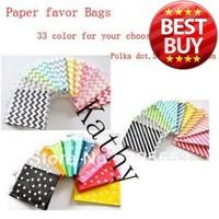 300pcs/lot Chevron Striped Dot Party Favor Bags, 5*7 paper bag , free shipping . 300pcs choose different 4 group color