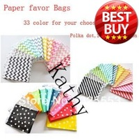 300pcs/lot Chevron Striped Dot Party Favor Bags, 5*7 paper bag , free shipping . 300pcs choose different 4 group color