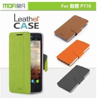 100% Original Brand Mofi Flip Stand Leather phone Case for Lenovo P770 cellphone holster wholesale Factory Price Freeshipping