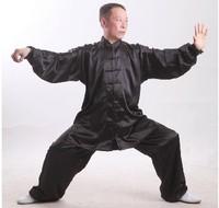 kung fu uniform South korean silk quality tai chi clothing performance wear suit kung fu leotard male Women silk