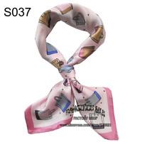 53x53cm pure  silk  Italian pink white scarfs women 2014 / fashion girl bag scarf accessories free shipping