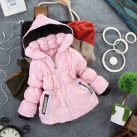 Free shipping!2013 new(3set/1lot) Children's Coat Winter Children Cotton Jacket thick Cotton-Padded Clothes