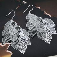 Lose money Promotion! Wholesale 925 silver earrings, 925 silver fashion jewelry, Gloss Leaf Earrings E214