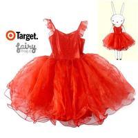 Australia design target brand Child one-piece dress girls princess dress child Fairy dress with wings kids halloween clothes