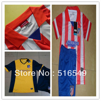 2013 2014 Top grade quality Atletico Madrid jerseys for youth kids child,100% Polyester New Atletico Madrid soccer jerseys