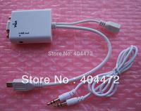 MHL premium micro HDMI to VGA  converter,Micro HDMI to VGA adapter, Micro HDMI male to VGA female  with 3.5mm audio output