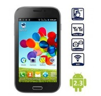 BML S4 i9500 Android Phone 5 inch Screen andriod 4.1 cpu SC6820 1GHz 256MB RAM WiFi Bluetooth GSM Smart phones Russian