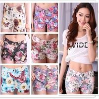 Hot Sale!Women's Flowers Floral Print Elastic Jean Style Mini Sexy Short  Pants  S,M,L Free Shipping 1pcs/lot