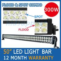 "50"" inch 300W Strip light/LED light bar/led tractor work light Work Lamp Off Road 4WD ATV SPOT&FLOOD COMBO BEAM"