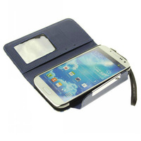 hot !!! flip cover high quality wallet case for samsung galaxy s4 case i9500 case luxury free shipping