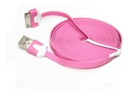 New 3M Long USB Charger Cable For Ipad 2 Ipad Iphone 4 4S 3G 3GS Ipod Pink