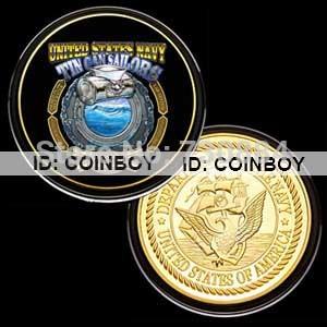 США военный цвет печати монета 276
