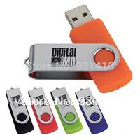 FULL capacity 64GB  Swivel Metal USB flash drive ,FREE Shipping(1 pc/lot ),USB Memory Stick Flash Pen Drive 8GB 16GB 32GB 64GB