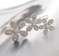 Free shipping,Min order 15$ (Mixed order) Wholesale Fashion Vintage Luxury Plum Flower Petal Rhinestone Hairpin Headwear Jewelry