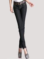 [TC Jeans]  new arrival  2014 Autumn fashion women jeans skinny denim pencil pants for female jeans woman black blue jeans