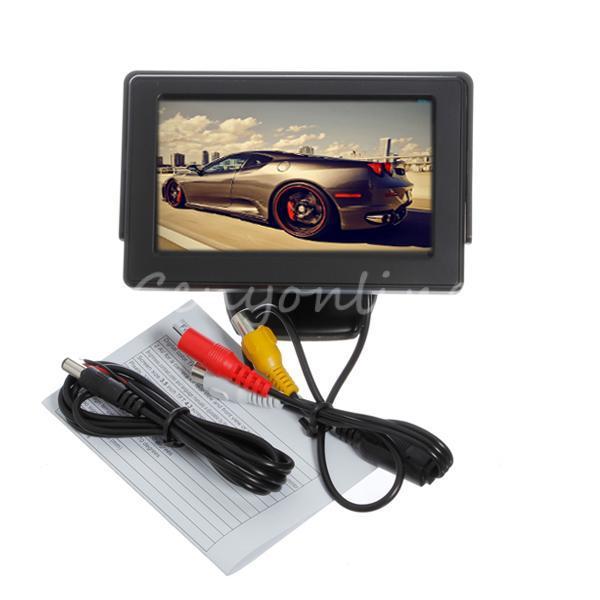 "New 4.3"" TFT LCD CCTV Car Rearview Backup Color Monitor Screen Reverse Camera Kit DVD VCR Free Shipping Wholesale(China (Mainland))"