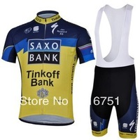 SAXO BANK Team Cycling Wear Short jersey BIB Shorts Freeshipping Bicycle Jersey for men Hotsale Cycling Cycle Clothing