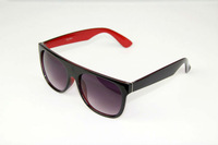 FREE SHIPPING Unique UV 400 Women Large Frame Wayfarer Sunglasses CH 8014 BLACK+RED