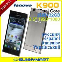 "Original Lenovo K900 Dual-Core Intel Atom Z2580 2048Mhz 5.5"" 1920*1080 IPS Screen Android 4.2 2g 16g/32g"