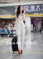 2013 new summer women harem pants  coveralls Xiaou beautiful piece sleeveless jumpsuit ultra-thin waist