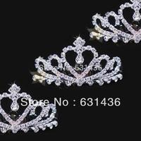 2014 Beautiful Bride Hot-selling Sparkling Diamond Rhinestone Bridal Hairpins Crown Wedding Accessories Drop Shipping