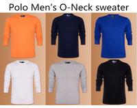 2014 fashion Brand New POLO Men's O- neck Contton 100% Polo sweatesr Man Cardigan woolly 14 color sale Free Shipping