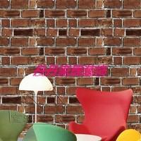 free shipping Vintage brick pvc waterproof wallpaper furniture balcony wallpaper STICKER