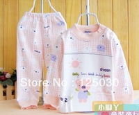Free shipping 1072 # 2013 autumn paragraph cotton shoulder bodysuit Qiuyi Qiuku suit wholesale1 lot / 3 sets