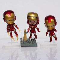 5inch New Arrival The Avengers Q Iron Man 3pcs/set bonecos vingadores High Quality PVC Action Figure Toys Dolls Free Shipping