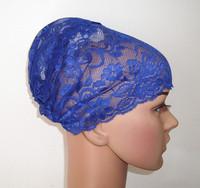 full lace cap muslim hijab bandanas basic lace lining small wigs  Mix color  free shipping