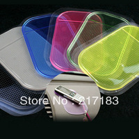 Free Shipping Brand New Sticky Car Pad for Cell Phone Anti-Slip Anti-shake Cell Phone Holder x10 Radom color