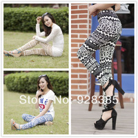 Fashion Geometric Printing Leggings for Women high Elastic free size Free shipping #BS013
