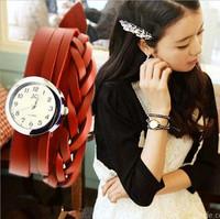 Hot Fashion Handmade Leather Watch Braided Bracelet Watch Women's Watches Wholesale