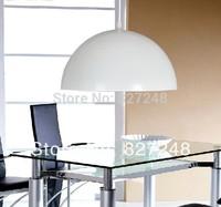 Wholesale 110v 220v  e27*1 lamp holder D30*H15cm aluminum pendant lights for restaurant lighting outside white inside silver p14