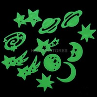 Cosmos Stars Glow in the Dark Luminous Fluorescent Plastic Wall Stickers hv3n