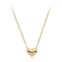 Italina Rigant Rhinestone Zironia and Alloy Mini Heart Pendat Necklace Free Shipping