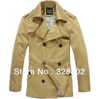 High quality Autumn Men's Dust Coat Fashion men's windbreaker men's jacket for winter long jacket men korean winter coat XXXL