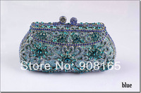 free shipping 5 colors 2014 new hollow out flower crystal handbags women luxury evening clutch bag  fashion bags