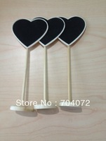 wholsesale -free shipping 10 x 'Heart' Blackboard on Stand - Wedding Table Numbers - Place Cards