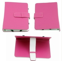 NEWEST UNIVERSAL FOR  7 INCH TABLET PU LEATHER CASE PROTECTOR COVER CASE ROSE