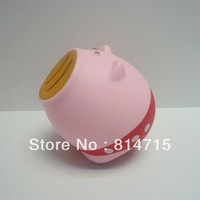Free Shipping PVC Pig Shape Money Pig Saving Box Wholesale