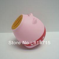 Free Shipping PVC Pig Shape Money Pig Saving Box Wholesale