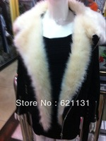 New 2014 Autumn and Winer motorcycle jacket berber fleece short design large lapel fur collar cotton-padded jacket outerwear