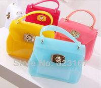 Fashion Brand Jelly bag 2013 Summer beach bag mini candy color handbag Fur candy handbags for women shoulder bag free shipping