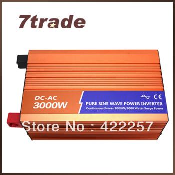 Free Shipping 3000W Solar Inverter 24V 220V(China (Mainland))