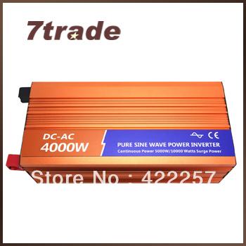 Free Shipping Solar Inverter 4000W Renewable Energy 24V 110V(China (Mainland))